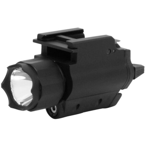 NcStar Tactical Red Laser Sight and 3W 120 Lumens Led Flashlight with Weaver Quick Release (AQPFLS),Black