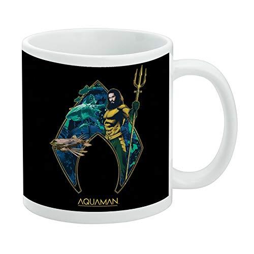 Aquaman Movie Atlantis Logo White Mug