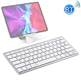 HWJ WB-8022 Ultra-dünne drahtlose Bluetooth Tastatur for iPad, Samsung, Huawei, Xiaomi, Tablet-PC oder Smartphones, Russisch Keys (Silber) (Farbe: Silber) xiao1230 (Color : Silver)