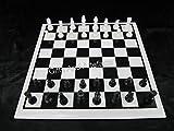 Mesa de ajedrez hecha a mano de la oficina del tablero del juego del negro y del mármol de la forma cuadrada, mesa de centro del balcón, 15