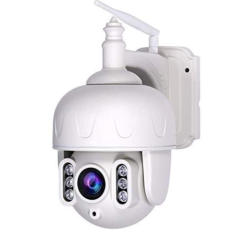SYWJ Telescopio Digital HD Cámara IP Ptz de 3Mp, Zoom óptico 5X Lente 2.8-12Mm, Cámara IP con Audio bidireccional, Visión Nocturna, Detección de Movimiento, Alarma de Actividad, Alarma disuasoria