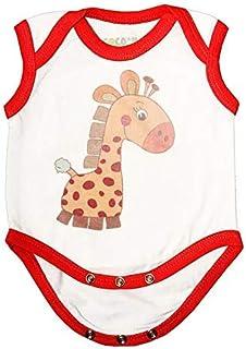 Cocoon Organics White Giraffe Print Anti-microbial Cotton Sleeveless unisex Onesie Bodysuit Romper Unisex Baby Wear