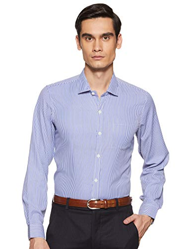 Excalibur Men's Formal Shirt (8907542556908_400016477917_40_Blue)