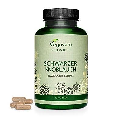 Black Garlic Capsules VEGAVERO® | Odourless | Highly dosed: 600 mg Extract | 100% Natural & Vegan | 120 Capsules | NO ADDITIVES