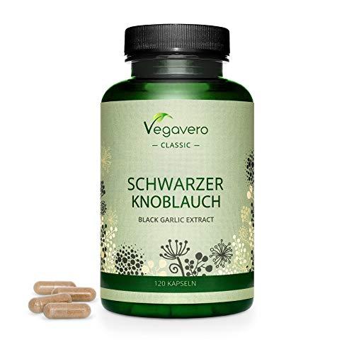 SCHWARZER KNOBLAUCH Vegavero ® | 6000 mg (10:1 Extrakt) pro Kapsel | GERUCHLOS und VERDAULICH | 120 Kapseln | VERGLEICHSSIEGER 2019* | Laborgeprüft | Vegan
