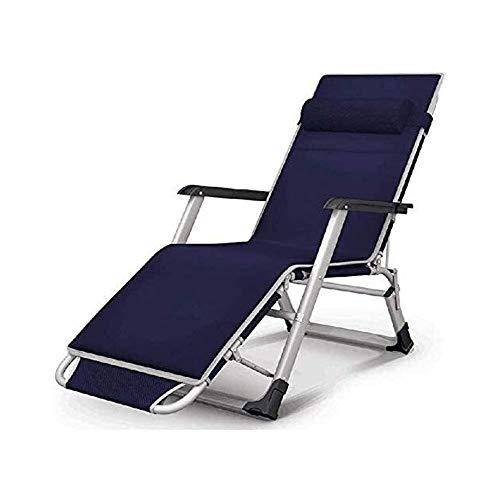 ZXNRTU Seguro, Robusto Butaca Grande Gravedad Cero for sillas reclinables XL Patio Acolchado Plegable Extra Ancho calesa de la Piscina al Aire Libre Patio Beach, Plegable Silla de Camping