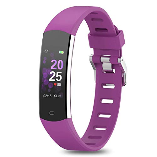BingoFit Kids Fitness Tracker, Slim Sports Activity Tracker with Heart Rate Monitor Waterproof Pedometer Watch with Sleep Monitor, Step Counter, Calorie Counter GPS Sports Watch for Women Men Kids