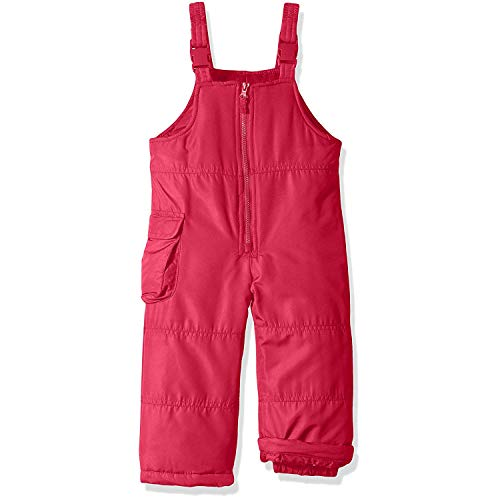 London Fog Girls' Little Classic Snow Bib Ski Snowsuit (10/12, Pink Solid)
