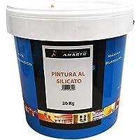 Pintura al Silicato. Pintura mineral para soportes porosos. (20 kg.)