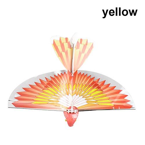 Starmood Elektronische Fliegend Vogel Flugzeug Flattern Flügel Flug Modell 2.4GHz Drone Kinder Spielzeug Geschenke - Gelb