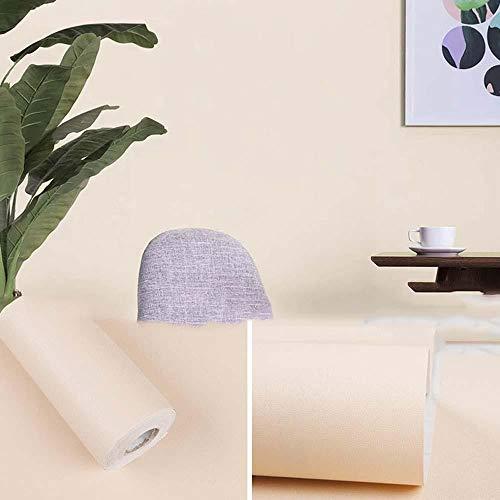 bjyxszd Papel adesivos Decorativos mueblesDormitorio Impermeable Papel Pintado Autoadhesivo,Pegatinas de decoración de habitación de Color sólido,Estudio Estudio de Fondo de Fondo de Pared-1_45cmx10m