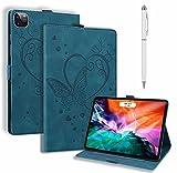 JJWYD Compatible avec Coque Apple iPad Pro 12.9 Pouce 5th Gen 2021 Tablette Housse Étui avec Cuir...