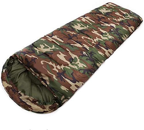 HUALI Cotton camping, 15~5degree, envelope style, camouflage, color: Army Green (Color : Army Green) LIULI (Color : Army Green)