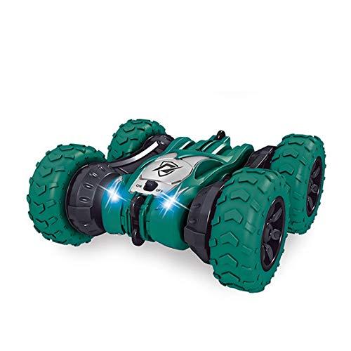 AAAHHH 2-En1 Doble Cara 2.4G Control Remoto Pista De Coche De Acrobacias 360 Grados Tumbling Control Remoto Stunt Car Toy,A