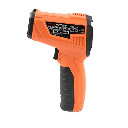 AOEIUV PM6519B Laser LCD Digitale IR Termometro a infrarossi Temperatura Meter Gun Point -50 ~ Termometro Senza Contatto da 500 Gradi