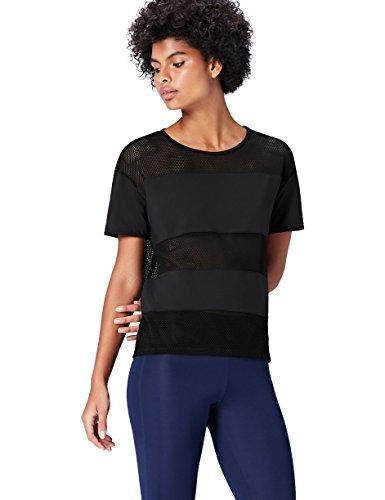 Activewear T-Shirt Damen, Schwarz, 40 (Herstellergröße: Large)