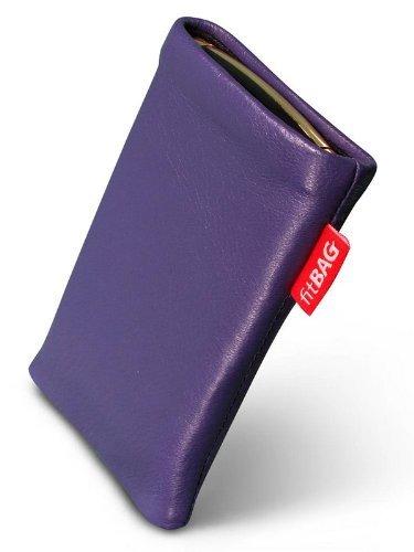 fitBAG Beat Lila Handytasche Tasche aus Echtleder Nappa mit Microfaserinnenfutter für ASUS M930