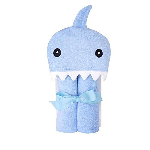 CuteOn Bebé 100% Algodón Toalla de baño Suave Encapuchado Toalla para Recién nacido Niñito y Niños - Azul Tiburón 28.74