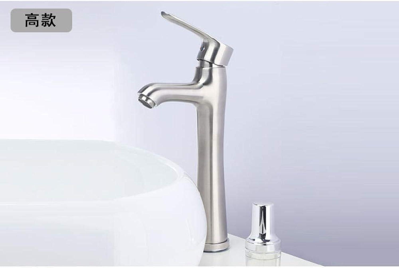 Wasserhahn - 304 Edelstahl Waschbecken Wasserhahn Bad WC heien und kalten Wasserhahn Waschbecken Wasserhahn @ LM32 hohen Abschnitt 1-20 Stze