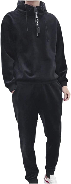 Andopa Herren mit kapuze samt grund stil verdickte fleece sport sweat suit set