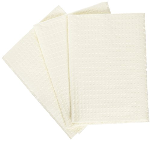 Medline NON24356W 2-Ply Tissue/Poly Professional Towels, 13' x 18', White (Pack of 500)