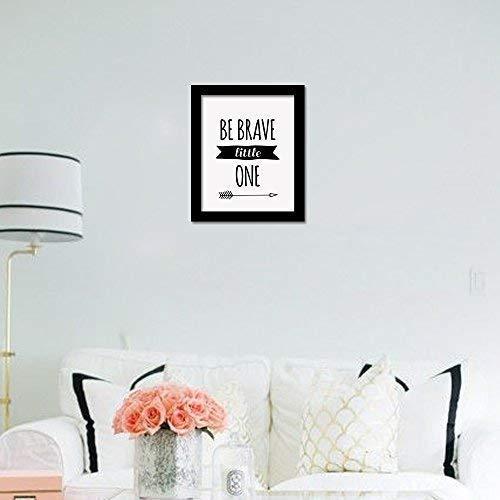 WALPLUS COM-CP021M Be Brave Little One Art Canvas Printen met FR030 Zwart fotolijst, Vinyl, Multi-Colour, 40 x 30 x 2 cm
