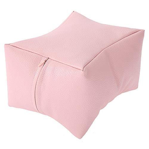 Almohada de Mano Almohadas de Arte de Uñas Suaves Almohada de Mesa de Manicura Cojín de Pies Y Manos Diseño para Descansar en El Spa Del Hogar - Rosa