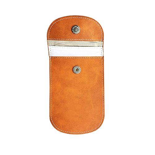 CUHAWUDBA Faraday Tasche SchlüSsellos Auto SchlüSsel Signal Blocker Tasche Leder Tasche für Auto...