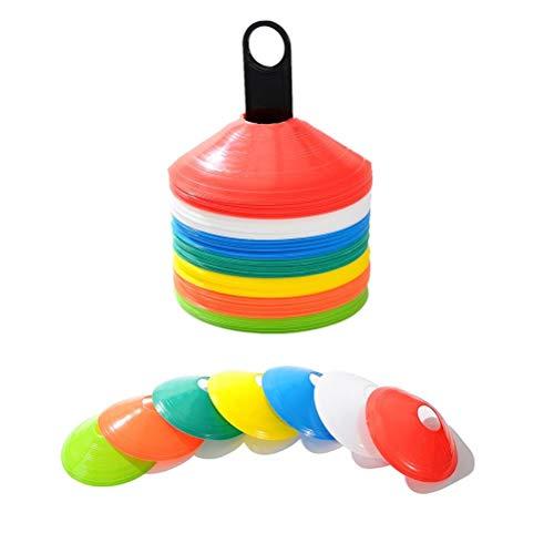 TIANTIAN 20 Stück Fußball-Markierteller für Weltraum-Marker, Fußball-Training, Sportuntertasse (Kegel sind Nicht im Lieferumfang enthalten)