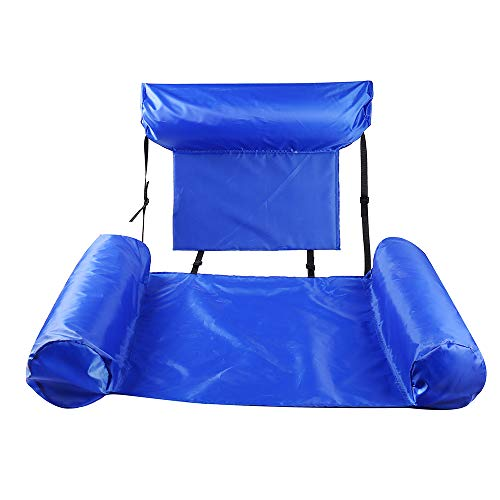 JUZIPI Cama inflable, hamaca 4 en 1 para piscina, tumbona de aire, colchoneta hinchable para piscina, hamaca, para adultos, portátil, silla para dormir