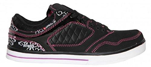 Airwalk Skateboard Damen Schuhe Collar Lace Black/Pink - Sneakers Shoes, Schuhgrösse:36