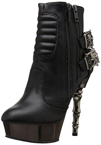 Demonia Women's MUERTO-900 Ankle Boot, Black Vegan Leather, 8 M US