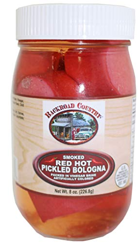 Backroad Country Smoked Red Hot Pickled Bologna 8 Ounces