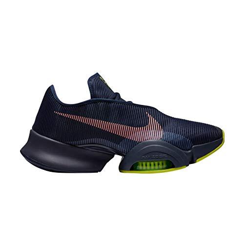Nike Air Zoom SUPERREP 2, Zapatillas de ftbol Hombre, Blackened Blue BRT Mango Cyber Ashen Slate Thunder Blue Volt, 41 EU