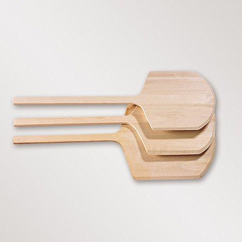 "American Metalcraft 2616 Wood Pizza Peel with 9"" Handle, 17"" x 16"" Blade"