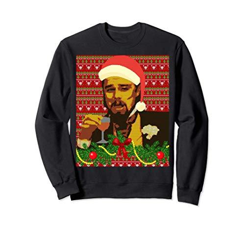 Leo Laughing Dank Meme Ugly Christmas Sweater Design Sweatshirt