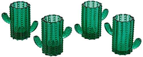 Excelsa Cactus Set 4 Bicchieri da Liquore, Vetro