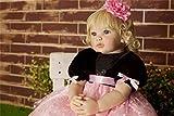 Pinky Bebe Reborn Silicona 22 Inch 55cm Muñecas Reborn Bebe Reborn Blandito Silicona Suave Vinilo Bebe Reborn Niña Juguete para Mayores de 3 añosft