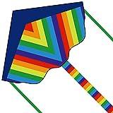 Fairwin Cometa Infantil para Niños, Diseño Grande y Simple Cometa Arco Iris para Niños con una Cola Larga y Colorida, Adecuada para Juegos al Aire Libre y Actividades para Niños Niñas y Familias