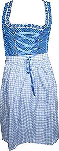 Lekra Country Life Dirndl Irmi 70cm in Blau - Gr. 42