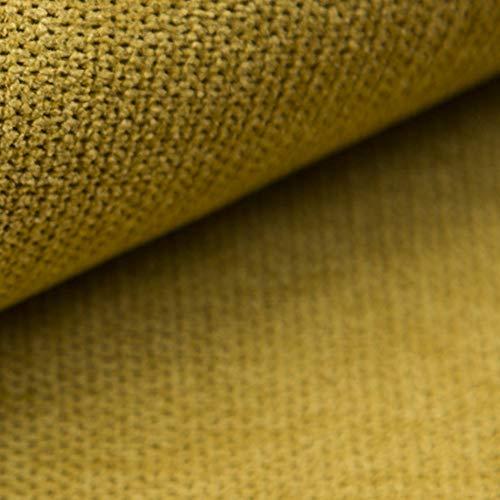NOVELY® Rickert | weicher und Zeitloser Polsterstoff | Möbelstoff | feine Textur | FLAUSCHWEICH | ROBUST (10 Senf Gelb)