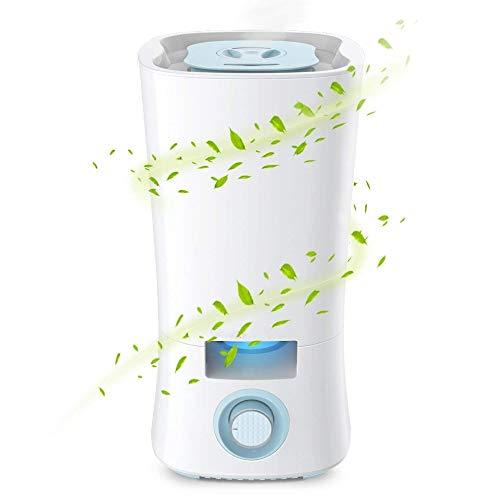 Cool Mist-luchtbevochtiger 3.5L Ultrasone luchtbevochtigers voor slaapkamer Babykamer Fluisterstille werking en automatische uitschakeling