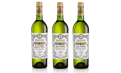 Vermouth La Copa Extra Seco - 3 botellas x 750 ml - Total: 2250 ml