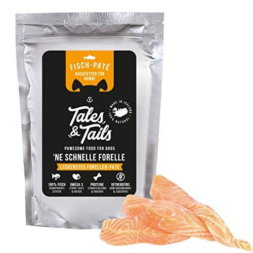 Tales & Tails® - Hundefutter, Nassfutter, getreidefrei, 100{5dc9cc0509eb5d69605965e0767eaaafbe9a5d5c0daf4ce7eb6bdcfbc7bbced5} Fisch pur, 3 Sorten, 100g Pouch (Forelle)