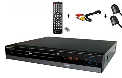 Manta DVD064S DVD-Player / CD Player DivX, Xvid, SCART, USB , Cinch inkl. SCART & Cinch-Kabel