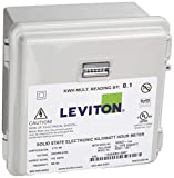 Leviton MO240-1SW Outdoor Surface Mount Mechanical Counter 120/208/240V 2P3W 100A with 2 Solid Core CTs Mini Meter Kit