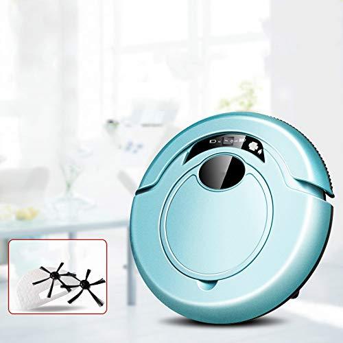 ZLAHY Robot de Limpieza Robot Aspirador Inteligente para Aspiradora Inalámbrica Inalámbrica Robot Anti Caída Barredora con Trapeador, Bluetooth