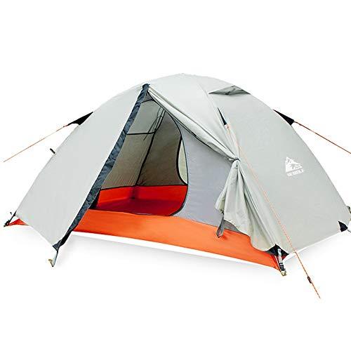 NgMik Carpa para Camping Doble Capa Impermeable Camping Tienda de campaña Plegable Carpa Impermeable portátil Mochila Carpa Súper Ligero (Color : Gray, Size : One Size)