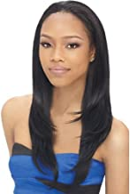 """Jiayi 16"""" Hair Half Wig for Black Women Straight Synthetic Japanese Fiber Wig with Drawstring and Combs 3/4 Head Wig Daily..."""