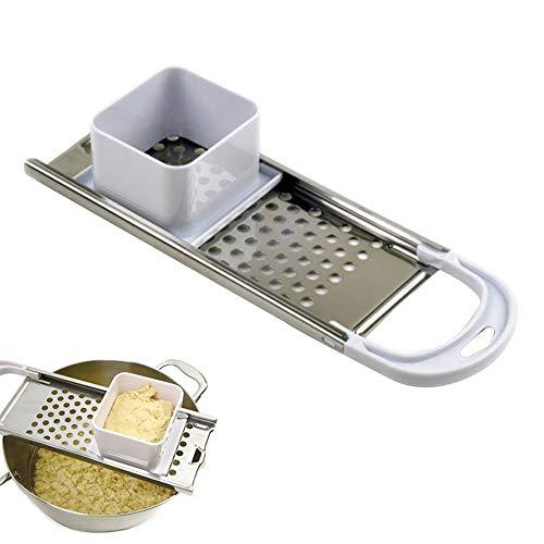 Almabner Spätzlehobel aus Edelstahl, Spätzle-Maker mit Komfortgriff, Spätzle-Reibe und Teigschaber manuelle Nudelkochwerkzeuge